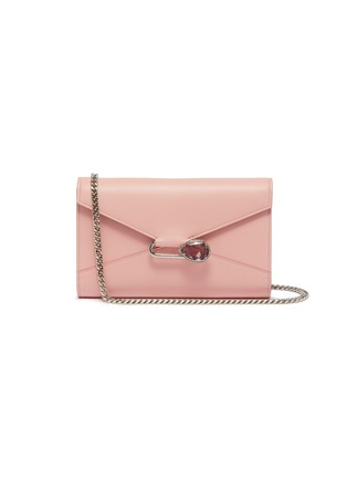 Main View - Click To Enlarge - ALEXANDER MCQUEEN - Pin leather chain wallet