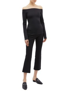 Theory Scuba jersey off-shoulder top
