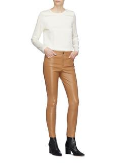 Theory Lambskin leather pants