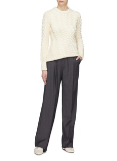 Theory Twist cable knit sweater