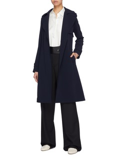 Theory 'Oaklane B' belted crepe trench coat