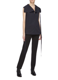Theory Sash tie funnel neck top