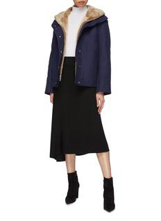 Theory Shearling lined twill oversized utility jacket