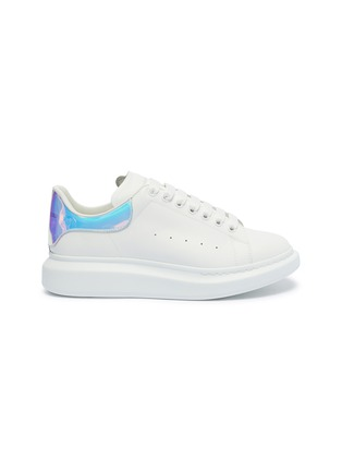 Main View - Click To Enlarge - ALEXANDER MCQUEEN - 'Oversized Sneaker' in leather with holographic collar