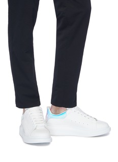 Alexander McQueen 'Larry' holographic collar chunky outsole leather sneakers