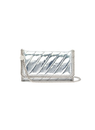 Main View - Click To Enlarge - Stella McCartney - 'Falabella' mini quilted mirror crossbody bag