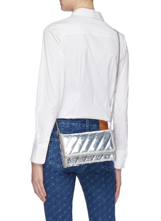 Figure View - Click To Enlarge - Stella McCartney - 'Falabella' mini quilted mirror crossbody bag
