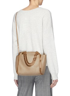 Stella McCartney 'Falabella' reversible shaggy deer mini tote