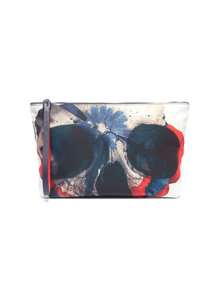 Main View - Click To Enlarge - Alexander McQueen - Floral skull print pouch