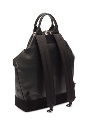 Detail View - Click To Enlarge - ALEXANDER MCQUEEN - 'De Manta' suede panel leather backpack tote