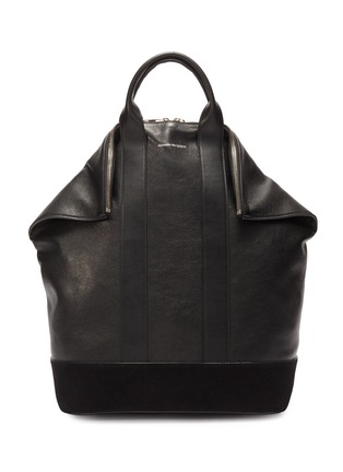 Main View - Click To Enlarge - ALEXANDER MCQUEEN - 'De Manta' suede panel leather backpack tote