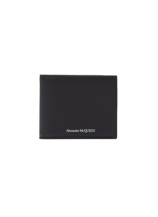 Main View - Click To Enlarge - ALEXANDER MCQUEEN - Logo print leather clip bifold wallet