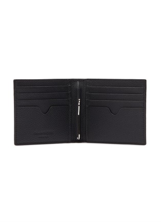 Figure View - Click To Enlarge - ALEXANDER MCQUEEN - Logo print leather clip bifold wallet