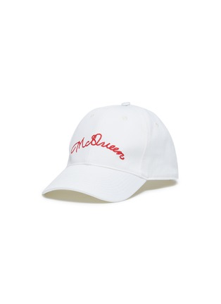 Main View - Click To Enlarge - Alexander McQueen - Logo embroidered baseball cap