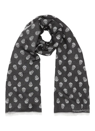 Main View - Click To Enlarge - Alexander McQueen - All Over Skull wool-silk scarf