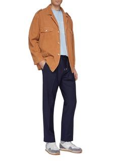 Martin Asbjørn Belted corduroy shirt jacket