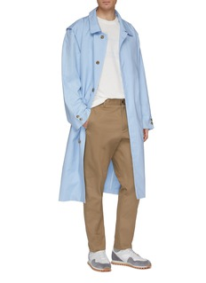 Martin Asbjørn Belted wide collar twill trench coat