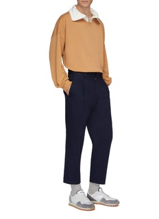 Martin Asbjørn 'Connor' contrast half-zip collar sweatshirt
