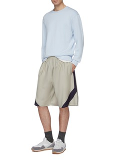 Martin Asbjørn Stripe outseam wool shorts