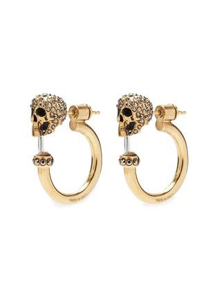 Main View - Click To Enlarge - Alexander McQueen - Swarovski crystal skull hoop earrings