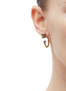 Alexander McQueen Swarovski crystal skull hoop earrings