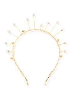 LELET NY 'Lunar' Swarovski crystal pearl crown