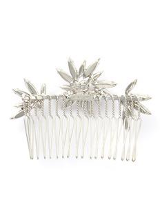 LELET NY 'Delilah' Swarovski crystal pearl floral hair comb