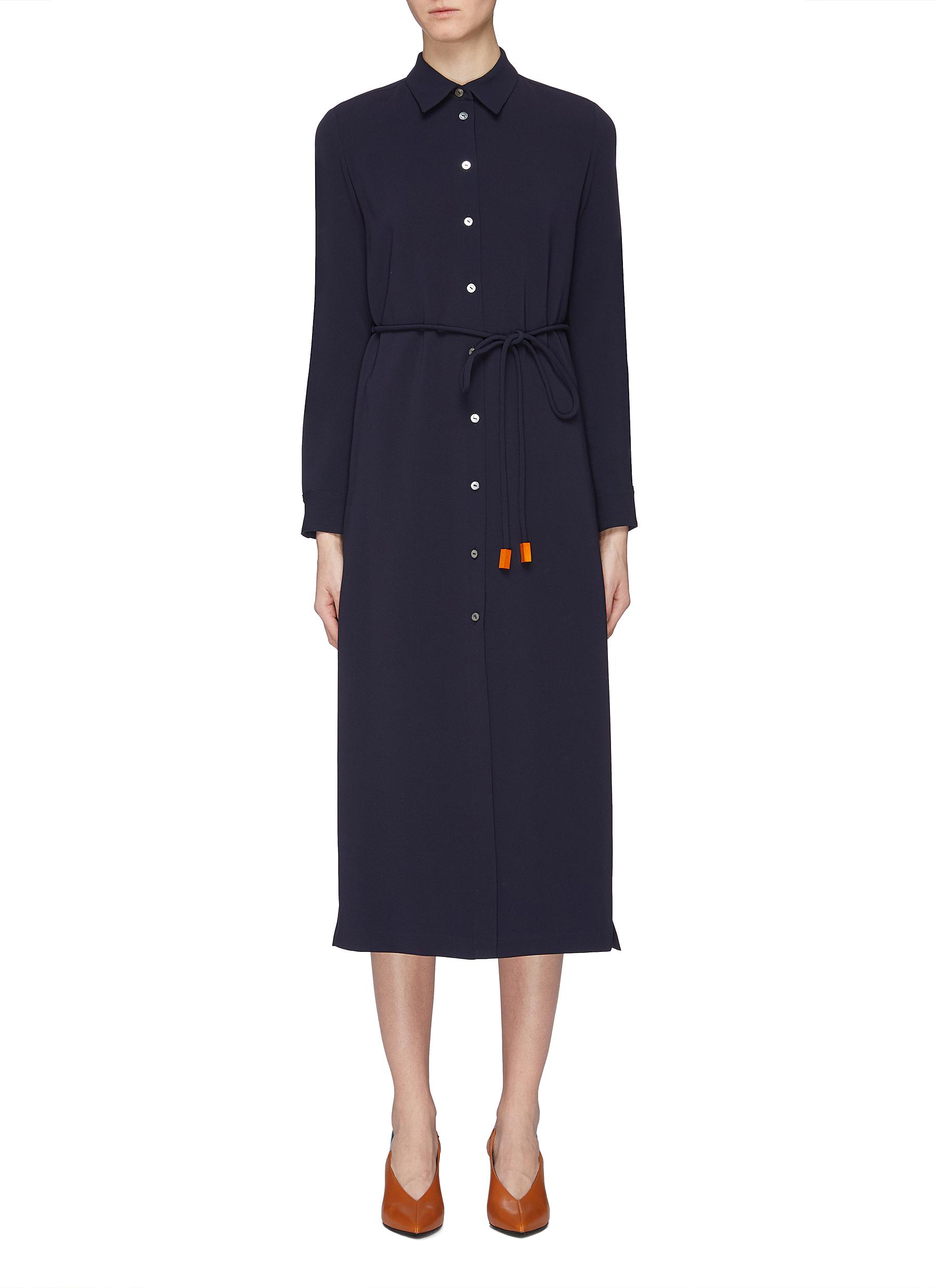 342cde709d2 Main View - Click To Enlarge - Theory - Belted crepe shirt dress