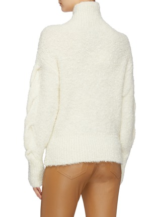 Back View - Click To Enlarge - THEORY - Bouclé knit oversized turtleneck sweater