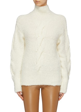 Main View - Click To Enlarge - THEORY - Bouclé knit oversized turtleneck sweater