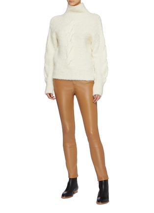 Figure View - Click To Enlarge - THEORY - Bouclé knit oversized turtleneck sweater