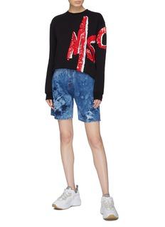 MSGM Tie-dye effect denim shorts