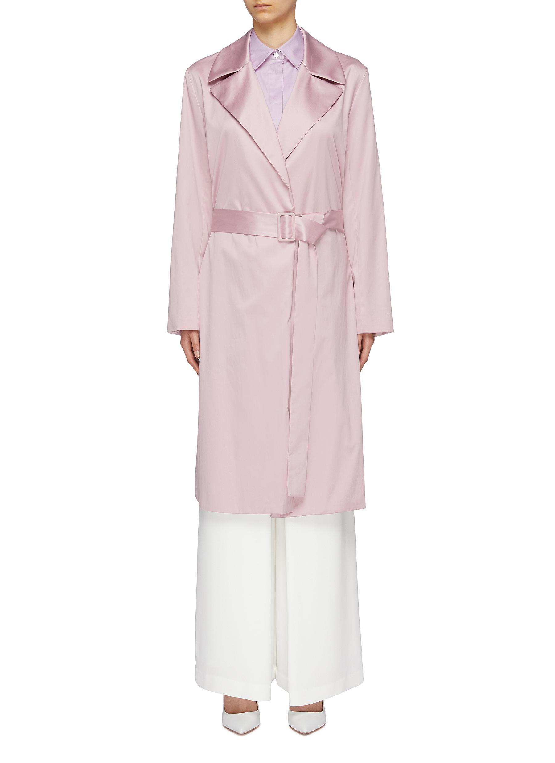 cec4ed0cf5 Main View - Click To Enlarge - THEORY - Belted cotton chintz trench coat