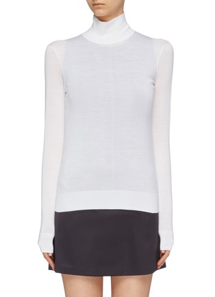 Main View - Click To Enlarge - THEORY - Wool blend turtleneck sweater