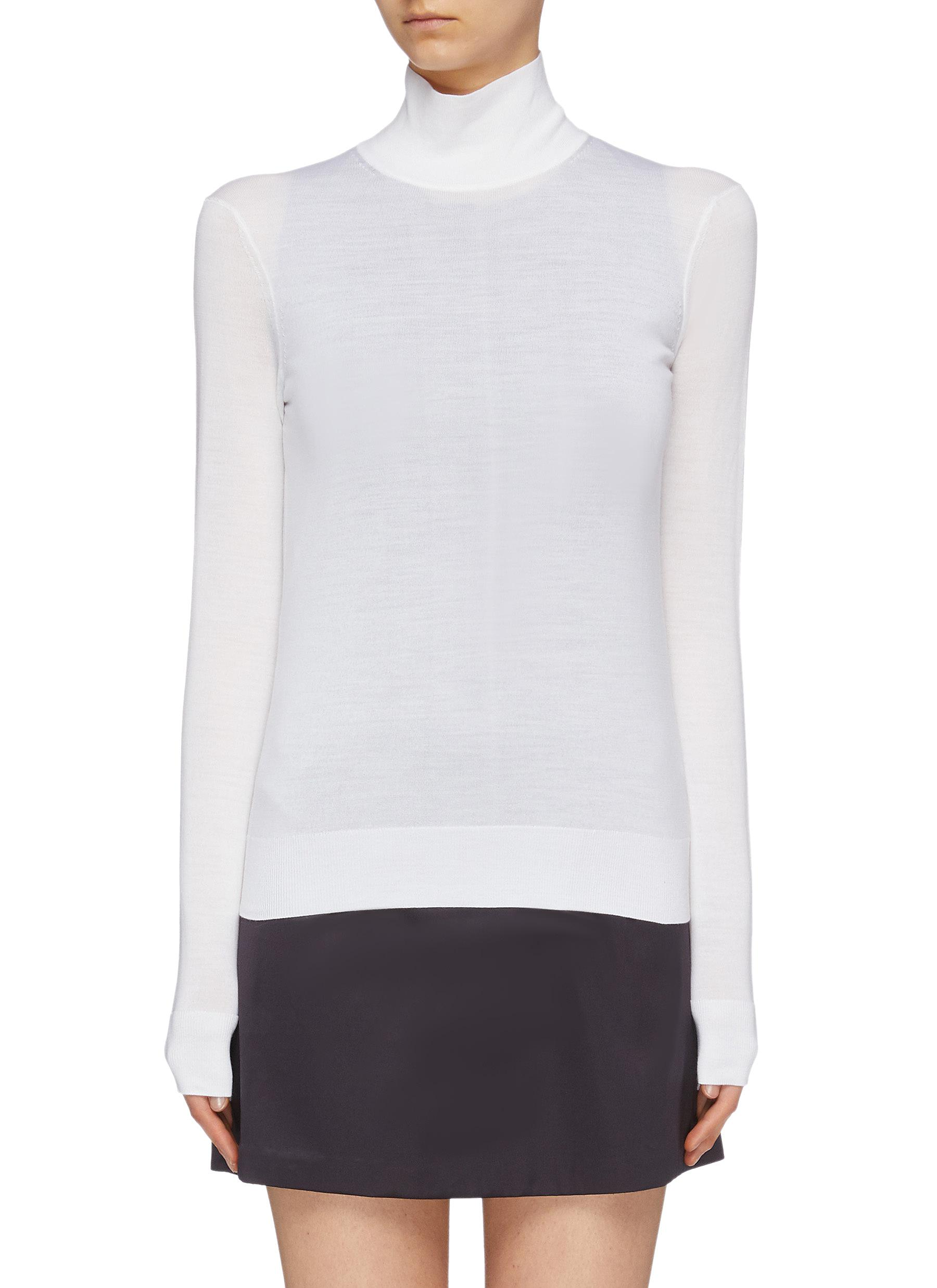 Wool blend turtleneck sweater by Theory