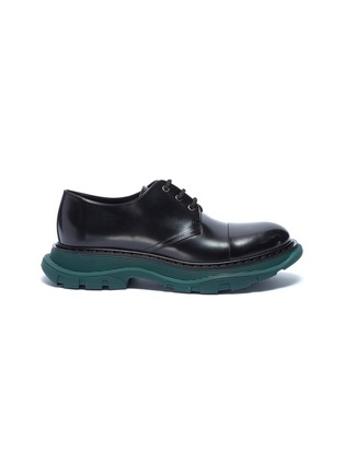 Main View - Click To Enlarge - Alexander McQueen - Chunky outsole leather Derbies