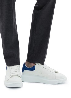 Alexander McQueen 'Larry' suede collar chunky outsole leather sneakers