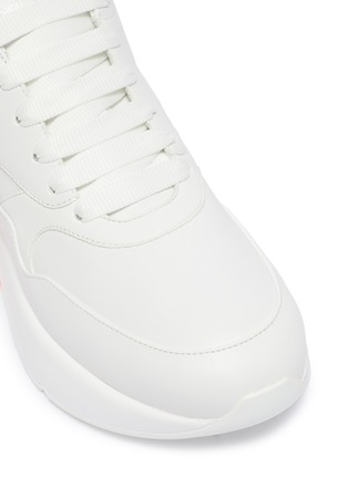 Detail View - Click To Enlarge - Alexander McQueen - Oversized outsole colourblock leather sneakers