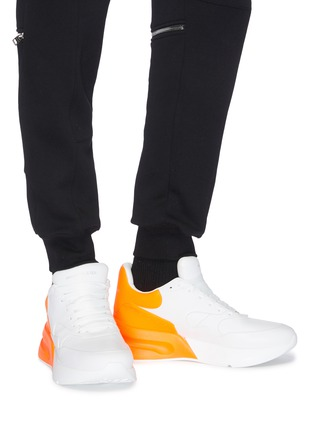 Figure View - Click To Enlarge - Alexander McQueen - Oversized outsole colourblock leather sneakers