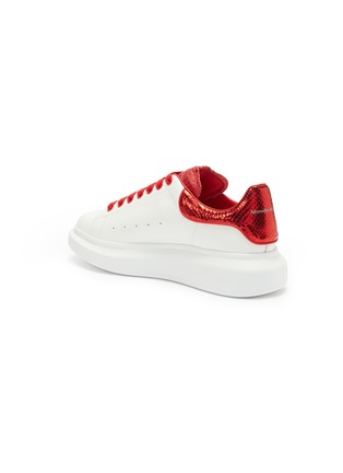 - ALEXANDER MCQUEEN - 'Oversized Sneaker' in leather with snake embossed collar