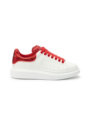 Main View - Click To Enlarge - ALEXANDER MCQUEEN - 'Oversized Sneaker' in leather with snake embossed collar