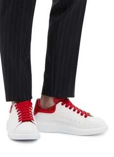 Alexander McQueen 'Larry' snake embossed collar chunky outsole leather sneakers