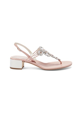 Main View - Click To Enlarge - René Caovilla - 'Veneziana' embellished leather thong sandals