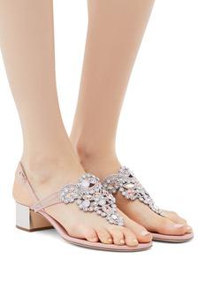René Caovilla 'Veneziana' embellished leather thong sandals