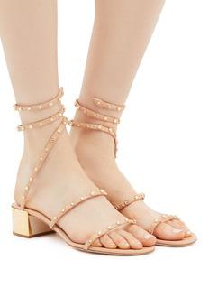 René Caovilla 'Cleo' embellished coil anklet leather sandals