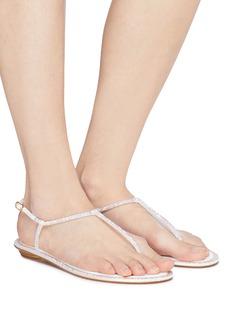 René Caovilla 'Diana' strass strap satin thong sandals
