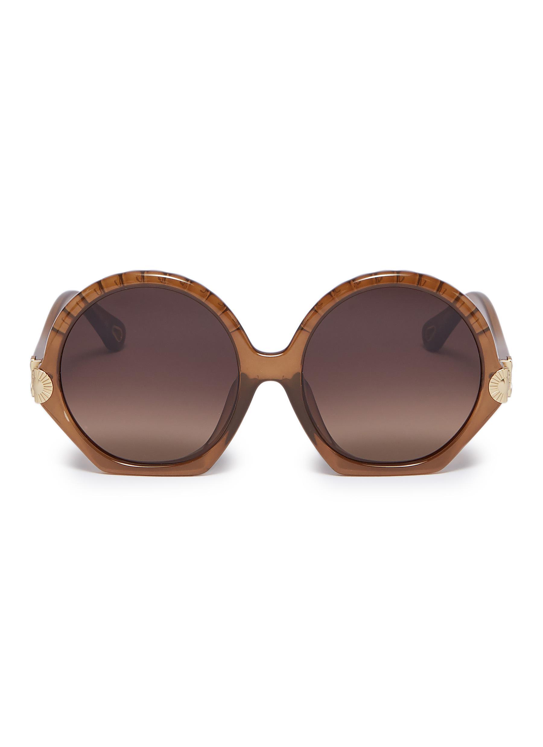 bc473a73f CHLOÉ | 'Vera' acetate scalloped round sunglasses | Women | Lane ...