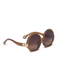 Chloé 'Vera' acetate scalloped round sunglasses