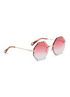Chloé 'Rosie' rimless sunburst octagon frame sunglasses