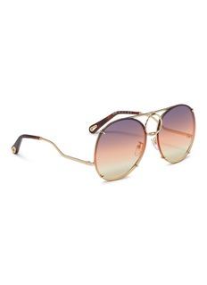 Chloé 'Vicky' interchangeable lenses metal aviator sunglasses